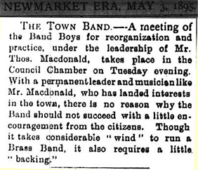 A meeting of the Band Boys for reorganization and practice, under the leadership of Mr. Thos. Macdonald, takes place in the Council Chamber on Tuesday evening.