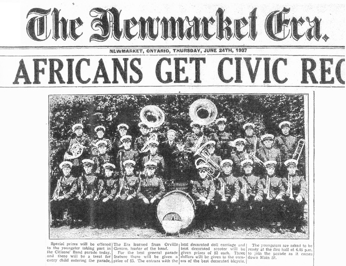 Newmarket Citizens Band in the Newmarket Era June 24, 1937