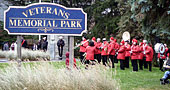 Remembrance Day at the Veterans' Memorial Park in Newmarket 2013
