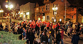 Annual Tree Lighting Ceremony on Main Street in Newmarket 2013